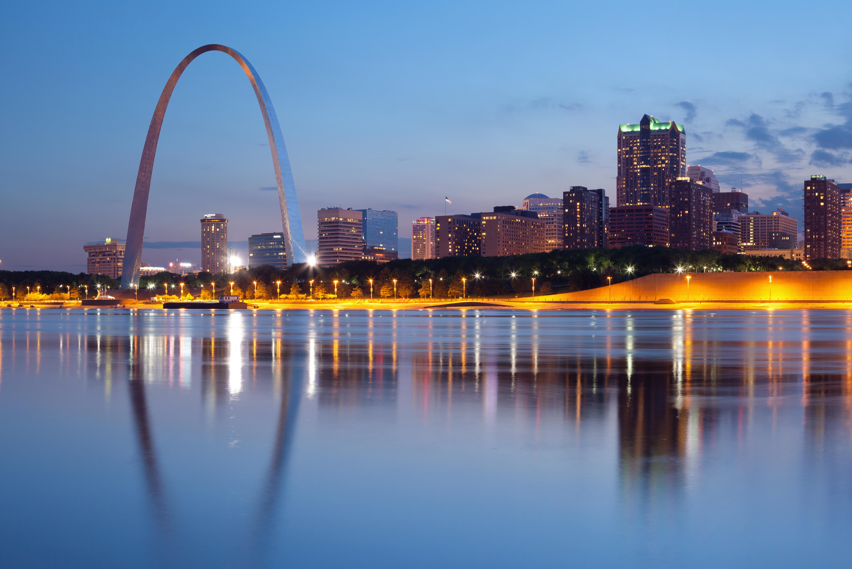 City of St. Louis skyline.