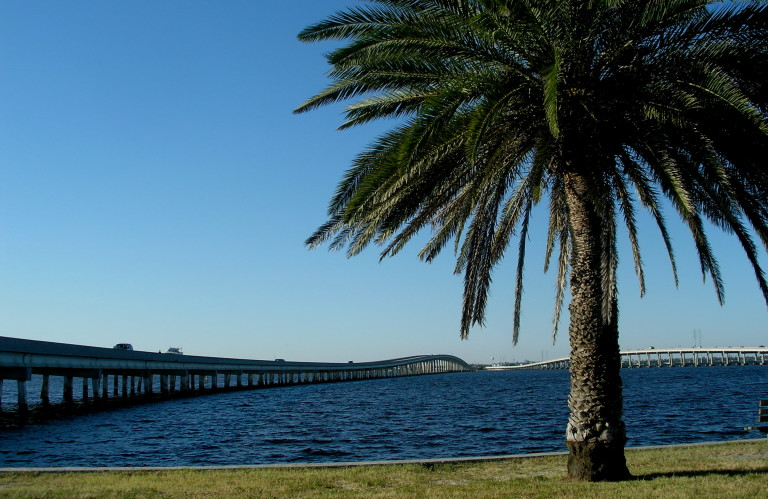 Charlotte Harbor and the Peace River. This is where Hurricane Charlie blew into Charlotte Harbor and Punta Gorda a couple years ago. It looks so serene now.