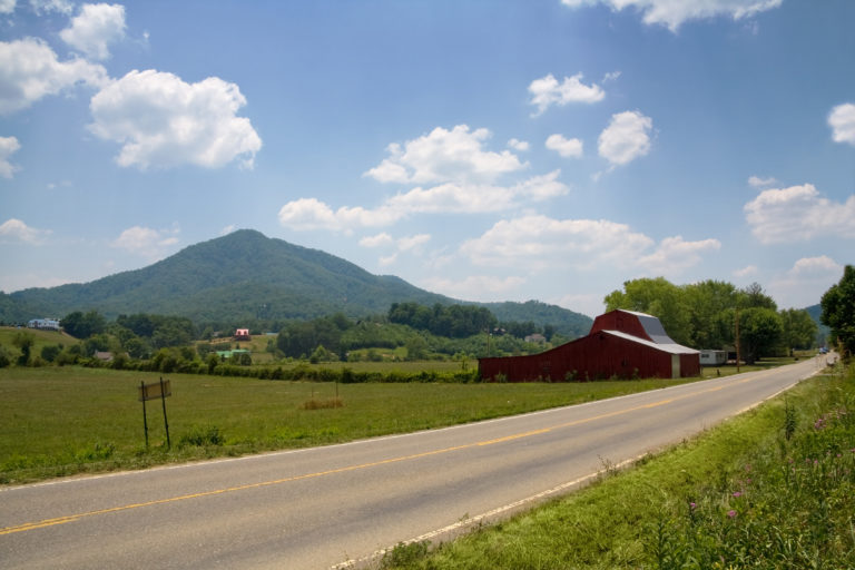 View of the valley on Wears Valley Road Sevierville Tennessee